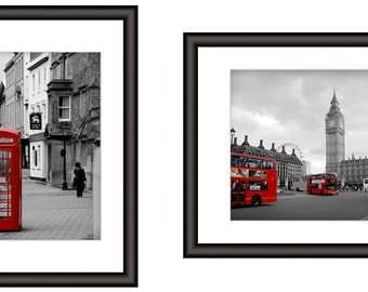 Oxford-London Personalized Print Set, Your Names in Photos, Unique Couples Gift for Wedding, Anniversary, Valentine's Day