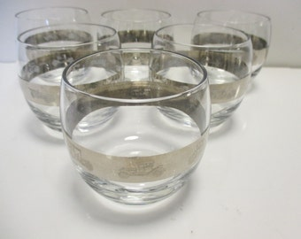 Silver Band Vintage Glass - Roly Poly Mad Men Vintage Automobile Icon Glasses - Set of 6
