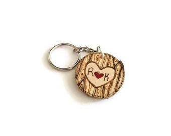 custom keychain, couples keychain, custom initials keychain, anniversary keychain, gift for boyfriend, gift for her, anniversary gift