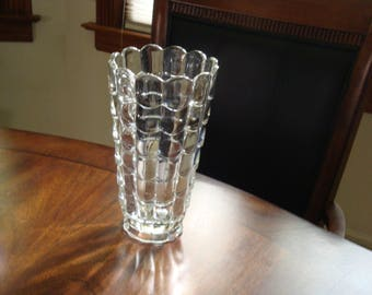 Cambridge CASCADE 9 Inch Hand Pressed and Polished Flower Vase 1947 - 1956!