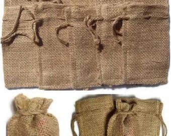 "100 BURLAP BAGS 4"" X 6"" - 10cm X 15cm Gift Bags Favor Bags Wedding Bridal Decor"