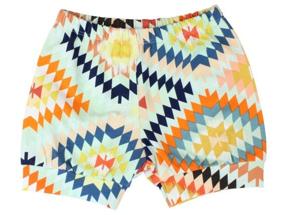 Colorful Tribal Baby Shorts Toddler Boy Shorts Serape Shorts Toddler Boy Shorts Cuff Shorts Comfortable Baby Clothing Shorts Aztec Shorts