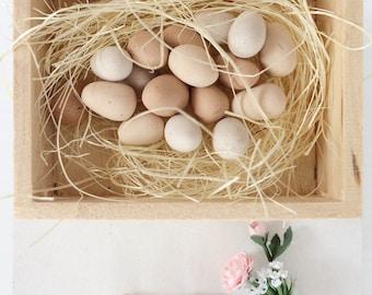Miniature Eggs - Fresh Eggs for Dollshouse - Miniature Food - Dollshouse Food - 1:12 scale food - polymer clay food - eggs for mini scene