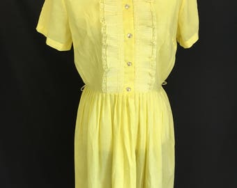 Pretty 50's Lemon Yellow Day Dress