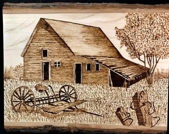 Old Barn with Hay Rake #2