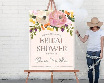 Custom Welcome Sign - Wedding Welcome Sign - Bridal Shower Welcome Sign - Baby Shower Welcome Sign - Sweet Blooms Welcome - Digital or Print
