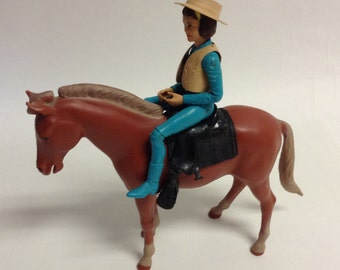 60s Vintage JANICE WEST & Poncho Horse Johnny West Series