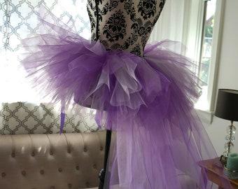 Adult Purple Bustle Tutu - Bustle Tutu - Adult Tutu - Tutu With Train- Bachelorette Tutu