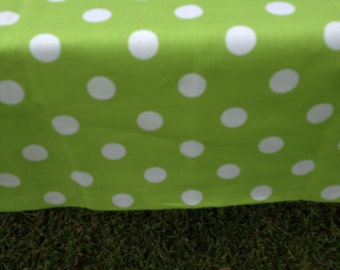 """44"""" X 90"""" Rectangle Candy Land with Large White Polka Dot Table Cloth Only"""