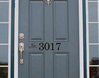 Front Door Number Decal Home Address Decal Street Number Door DecalSALE & Door number decal | Etsy