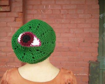 Green Third Eye Beanie