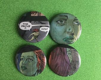POISON IVY pin set, Batman, Poison Ivy