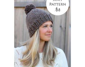 KNITTING PATTERN -The Belle Beanie Pattern- Hat Pattern- Beanie Pattern- Instant Download- PDF File