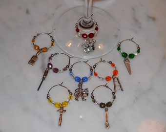 Handyman Tool Tools Contractor Wine Charms w/pouch