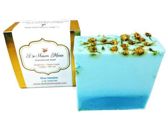 SOAP Blue Jasmine Soap, Handmade Soap, Vegan Soap, Stocking Stuffer, Natural Soap, Floral Soap, Soap Gift, Christmas Soap Gift, Soap Favors