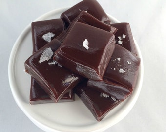 Salted Chocolate Caramels- All Natural - Caramel