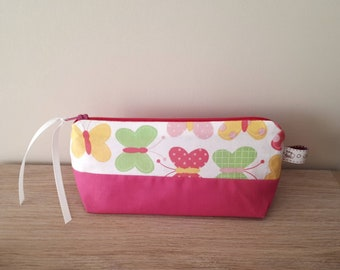 Clutch, pouch customizable Butterfly patterns.