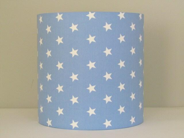 Handmade baby powder blue white star lampshade 20cm 25cm 30cm zoom aloadofball Gallery