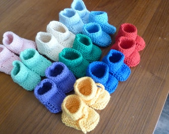 """Lovely knitted little dolls shoes for your 14 - 16""""  (36-40 cm) dress-up and jointed Waldorf Dolls with a foot length of 2"""" (5 cm)."""