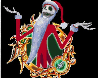 BUY 2, GET 1 FREE! The Nightmare Before Christmas Disney Jack Santa 505 Cross Stitch Pattern Counted Cross Stitch Chart 192165