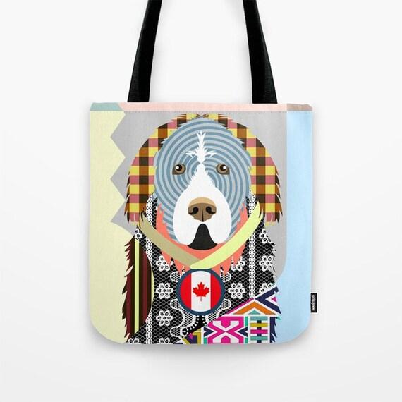 Newfoundland Tote, Newfoundland Bag, Newfoundland Gifts, Newfoundland Art Print, Dog Tote Bag, Dog Lover's Gift, Animal Lover Gift