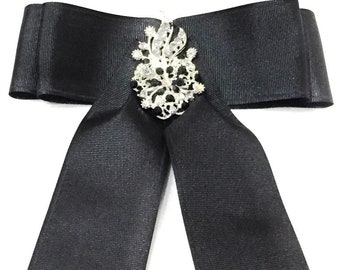 Bowtie Victorian Black, Bow Tie for her