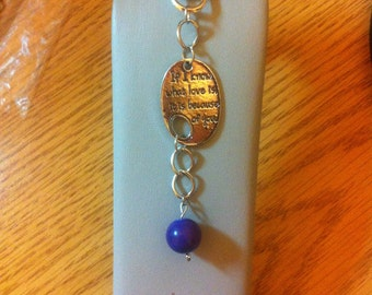 SALE**** If I know what love is keychain - purple