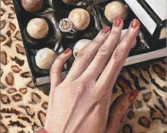 Art Print Reproduction // Sweet Surprise // From Original Acrylic Painting // Food Art // 22 cm x 17 cm // Cynthia Katz