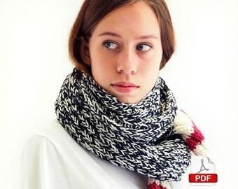 Sock Monkey Scarf - knitting pattern