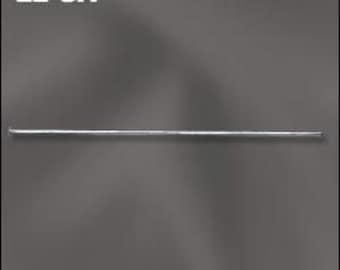 Silver-Filled Head Pins - 50  22 gauge 2 inch headpins