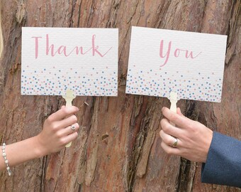 Wedding Paddles Thank You | Wedding Photo Booth Props | Thank You Wedding Sign