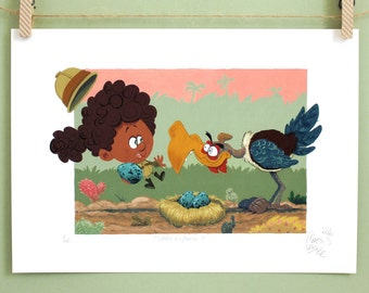 Little explorer - Adventure art gift - Be brave little one - Boho nursery decor - Wanderlust - Art print  - Baby shower gift - Nursery decor