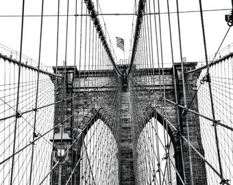 "New York Photography, NYC Art, ""The Brooklyn Bridge"""