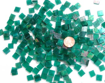 Teal Iridescent Mosaic Tile