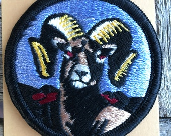 Big Horn Sheep Vintage Souvenir Travel Patch from Holm Patches