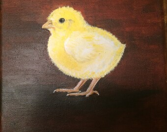 Chick pic 8x8 on canvas
