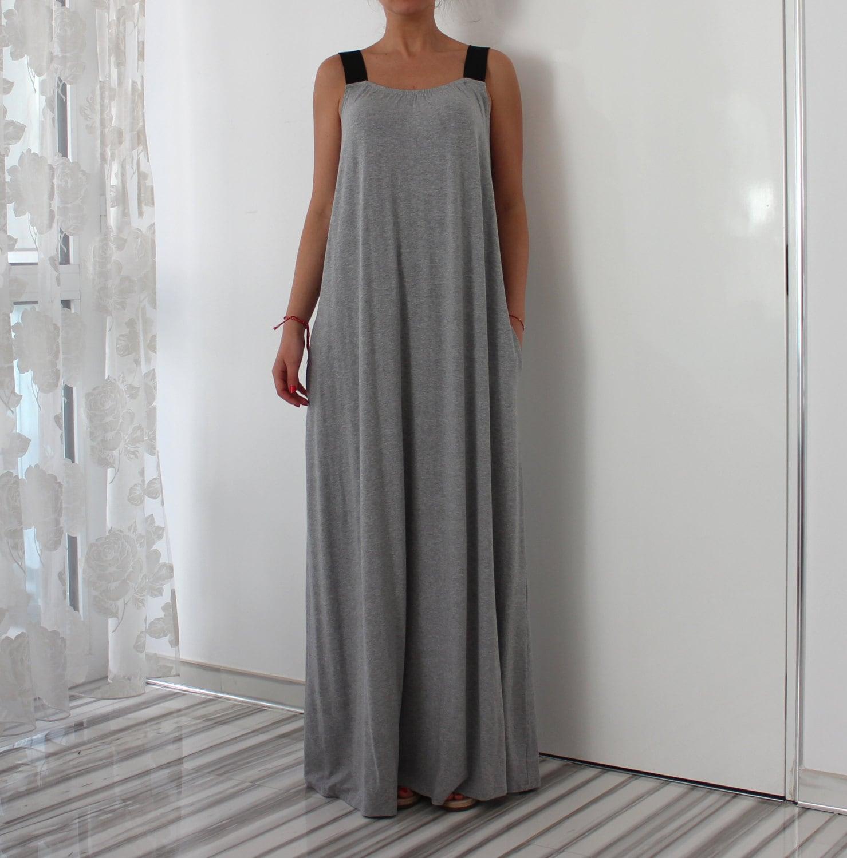 Grey maxi dress/ Grey dress/ A line dress/ Maxi dress/ Long