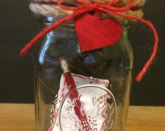 Valentine's Love Note Mason Jar