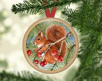 Christmas Tree Ornaments, Wreaths, Birds, Squirrels, Hanging Ornaments - SET 02 (0079)