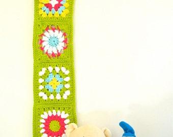 crochet wall hanging handmade baby gift