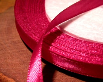 10 M 6 mm - SA15 bright fuchsia satin ribbon