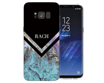 Samsung Galaxy S8 Case Marble Effect Arrow Patterned Cover Cases Pattern Personalised Silicone Gel Covers