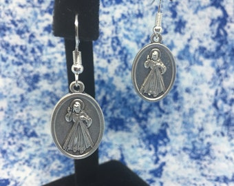 Divine Mercy | With or Without Bead | Nickel Free | Dangle Hook Earrings