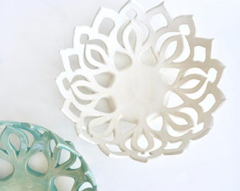 Petite White Mandala Bowl