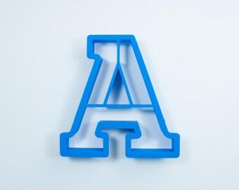Block Letter A Cookie Cutter | Alphabet Cookie Cutters | Letter Cookie Cutters | ABC Cookie Cutters | Block Letters Alphabet Cookie Cutters