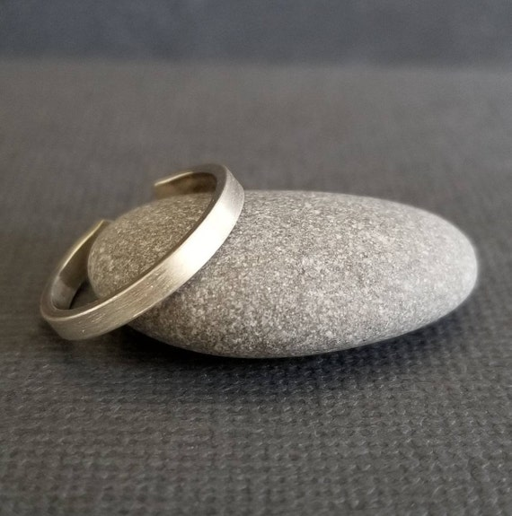 Skinny Brush Textured Sterling Silver Toe ring, Body Jewelry made in Canada, boho jewelry, minimalistic toe ring, silver jewelry