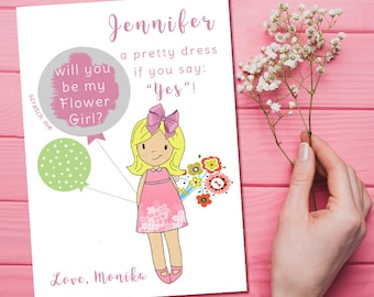 Flower Girl Scratch Off Card, Will You Be My Flower Girl Scratch Off, Flower Girl Proposal Scratch Off, Junior Bridesmaid Scratch Off Card