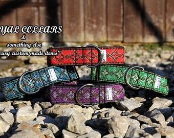 1.5 inch Dog Martingale Collar , Medieval Dog Collar, dog collar, adjustable dog collar