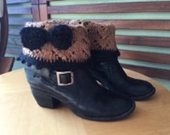 Girly Lace and Mohair Boot Cuffs