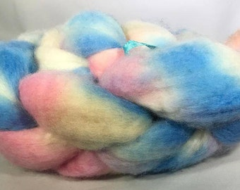 """Blue Faced Leicester (BFL) """"County Fair"""" Hand Dyed Roving 3.5 ozs"""